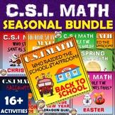 Halloween Math Activity CSI + C.S.I Holiday & Seasonal Bundle Math & Mysteries.