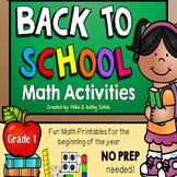 Back to School Math {Grade 1}