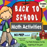 Back to School Math {Grades 3-5}