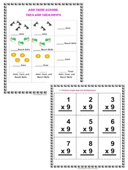 Back to School Math Activities Pack