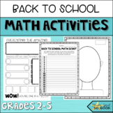 Back to School Math Activities- SCOOT, Glyph, and Partner Interviews- Start fun
