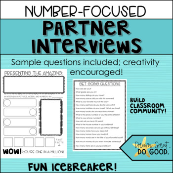 Back to School Math Activities- SCOOT, Glyph, and Partner Interviews- Start fun