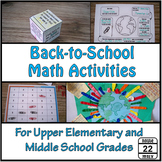 Back to School Math for Middle School
