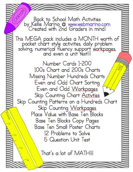 Back to School Math Activities and Problem Solving Mega Pack