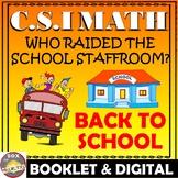 Back to School Math Activity: Back to School CSI Math -Who