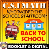 Back to School Math Activity: Back to School CSI Math -Who