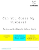 Back to School Math Activity-Can you Guess My Number?