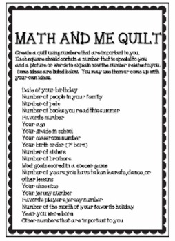Back to School Math Activity Printable