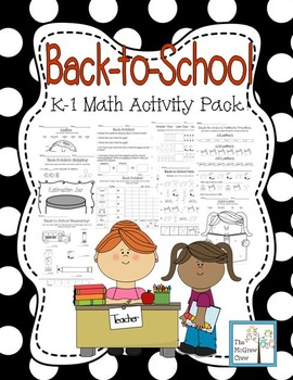 Back-to-School Math Activity Set Pack