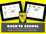 Back to School Math-Add and Subtract Money Amounts