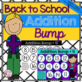 Back to School Math Addition Bump Game