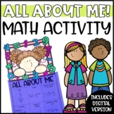 Back to School Math All About Me Activity and Craftivity - Digital & Printable