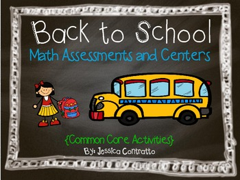 Back to School Math Assessments and Centers