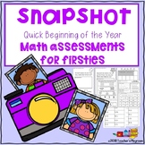 Back to School Math Baseline Assessment for First Graders