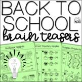 Back to School Math Brain Teasers