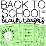 Back to School Brain Teasers: Math Enrichment