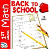Back to School Math Worksheets for Morning Work