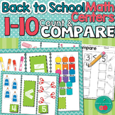 Greater than Less than Back to School Math Center