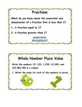 Back to School Math Center Activity