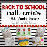 Back to School Math Center BUNDLE (Fourth Grade Review)