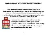 Back-to-School Math Center Bundle