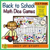 Back to School Math Center Dice Games