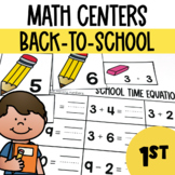 Back-to-School Math Centers