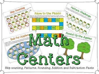 Back to School Math Center Games