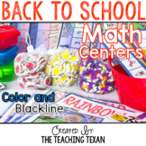 Back to School Math Center Games and Activities