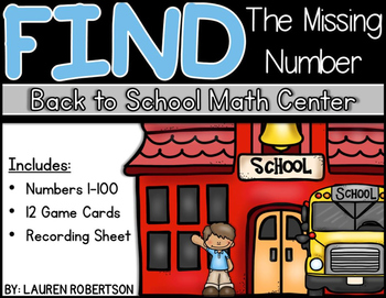 Back to School Math Center- Number Sequencing