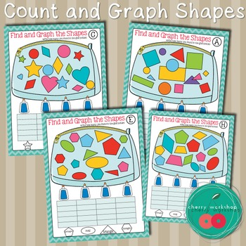 Back to School Math Center Shapes and Graphing