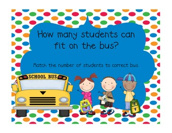 Kindergarten Back to School Math Centers (Envision Math Topic One)