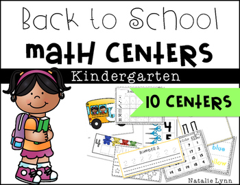 Back to School Math Centers - 10 Centers