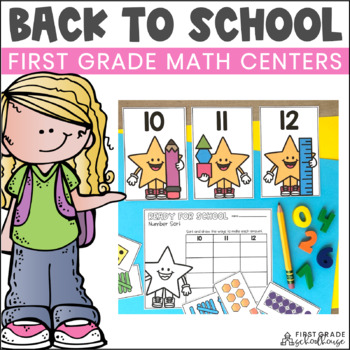 Back to School Math Centers First Grade