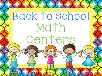 Back to School Math Centers: Common Core