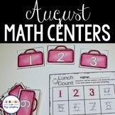Kindergarten Math Centers Back to School