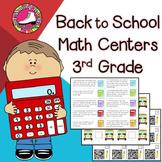 Back to School Math Centers 3rd Grade - Reviews 2nd Grade
