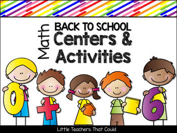 Back to School Math Centers & Activities