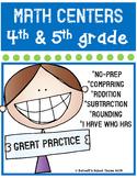 Back to School Math Centers {4th & 5th Grade} CC