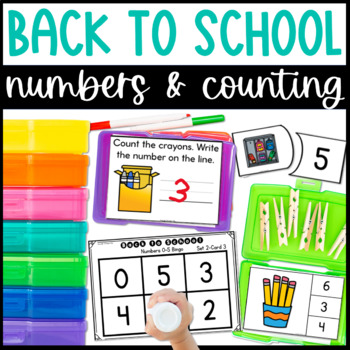Back to School Math Centers-Counting with Numbers 0-10