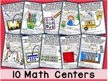 Back to School Math Centers - First Grade