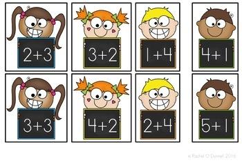 Back to School September Math Centers First Grade Freebie