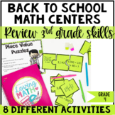 Back to School Math Centers 4th Grade