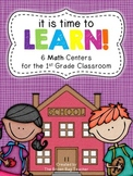 Back to School Math Centers: It's Time to Learn