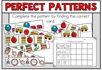 Back to School Math Centers Kindergarten