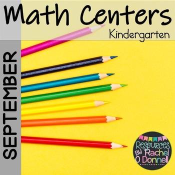 Back to School Math Centers Kindergarten Freebie