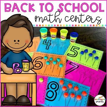Back to School Math Centers: Kindergarten/Preschool