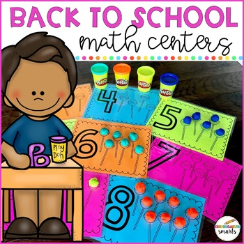 Back to School Math Centers: Kindergarten/Preschool