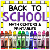 Back to School Math Centers & Printables {16 fun & engagin