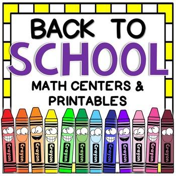 Back to School Math Centers & Printables {16 fun & engagin